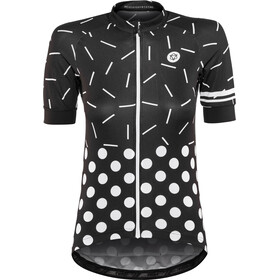 AGU Sprinkle Dot Shortsleeve Jersey Damer, black/white